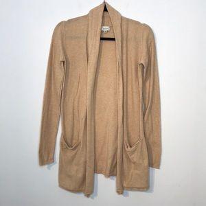 Aritzia Babaton cotton tan cardigan